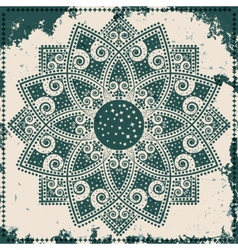 Lace ornament on grunge background vector