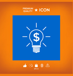 Light bulb with dollar symbol business concept vector