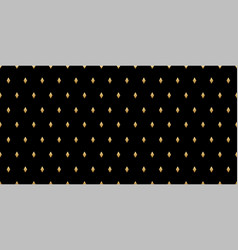 luxury seamless pattern gold diamonds on a black vector image