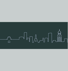 Manila single line skyline vector