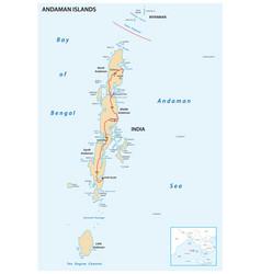 Map indian archipelago andaman islands vector