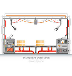 moderna plant line or factory conveyor belt vector image
