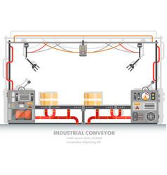 Moderna plant line or factory conveyor belt vector