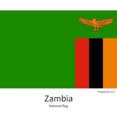 National flag of Zambia with correct proportions vector