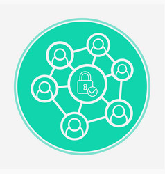 network icon sign symbol vector image