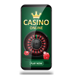 online internet casino marketing banner phone app vector image