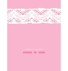 Pink lineart leaves chevron vertical torn seamless vector