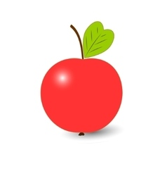 Red ripe Apple isolated on a white background vector image
