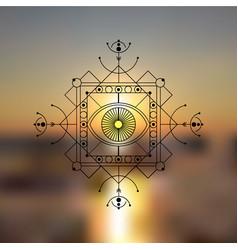 Sacred geometry blurred sea vector