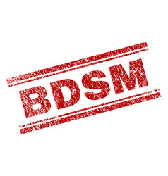 Scratched textured bdsm stamp seal vector