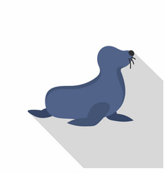 seal icon flat style vector image