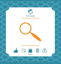 search symbol icon vector image
