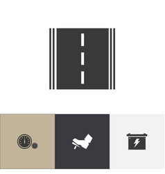 set of 4 editable car icons includes symbols such vector image