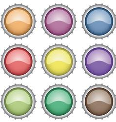 Set of bottle caps vector