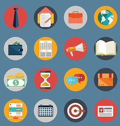 Set of various financial service items web and vector image