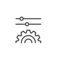 Settings line icon vector