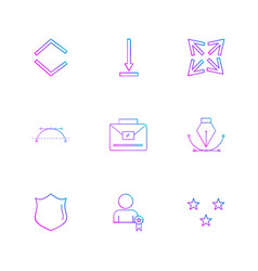 Sheild nib breifcase arrows directions vector
