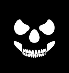 Skull profile design black background vector