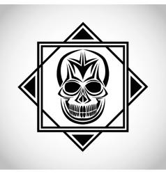 skull tattoo face design vector image