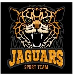 Sport team - Jaguar wild cat Panther vector image
