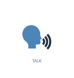 talk concept 2 colored icon simple blue element vector image