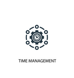 Time management icon simple element vector