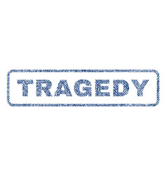 tragedy textile stamp vector image