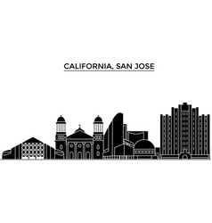 usa california san jose architecture city vector image