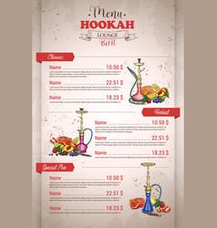 vertical color menu design vector image