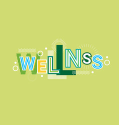 wellness health care web banner abstract creative vector image