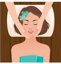 Woman at the massage spa salon vector image