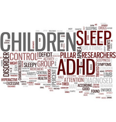 Your adhd child may just be tired text background vector