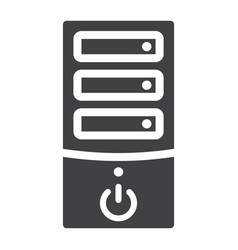 computer solid icon pc and office vector image vector image