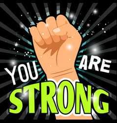 man power up fist poster vector image
