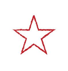 red blood grunge star vector image