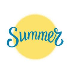 summer and yellow circle vector image