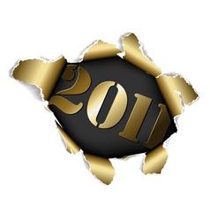 christmas card 2011 vector image
