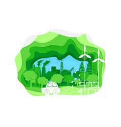 environmentally vector image vector image
