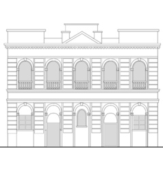 heritage mansion building vector image