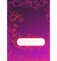 illustration of purple wallpaper vector image vector image