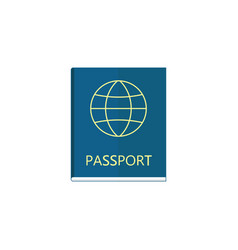 passport flat icon travel tourism citizen and id vector image vector image