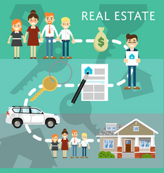 real estate agency website template vector image