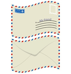 White envelope with stamp vector image