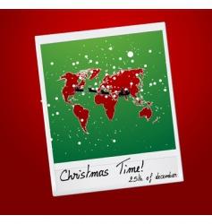 Christmas shot vector image vector image
