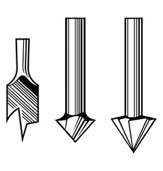 Drill bits vector image