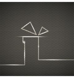 Gift metal texture background vector image vector image