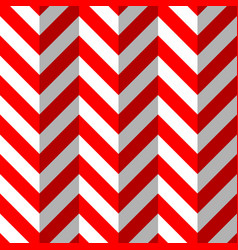 red and white zigzag seamless pattern vector image vector image
