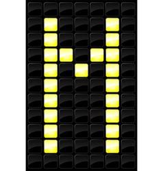 scoreboard letter icon vector image vector image