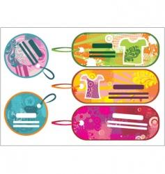 fashion tags vector image