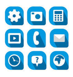 icons for mobile computer vector image vector image